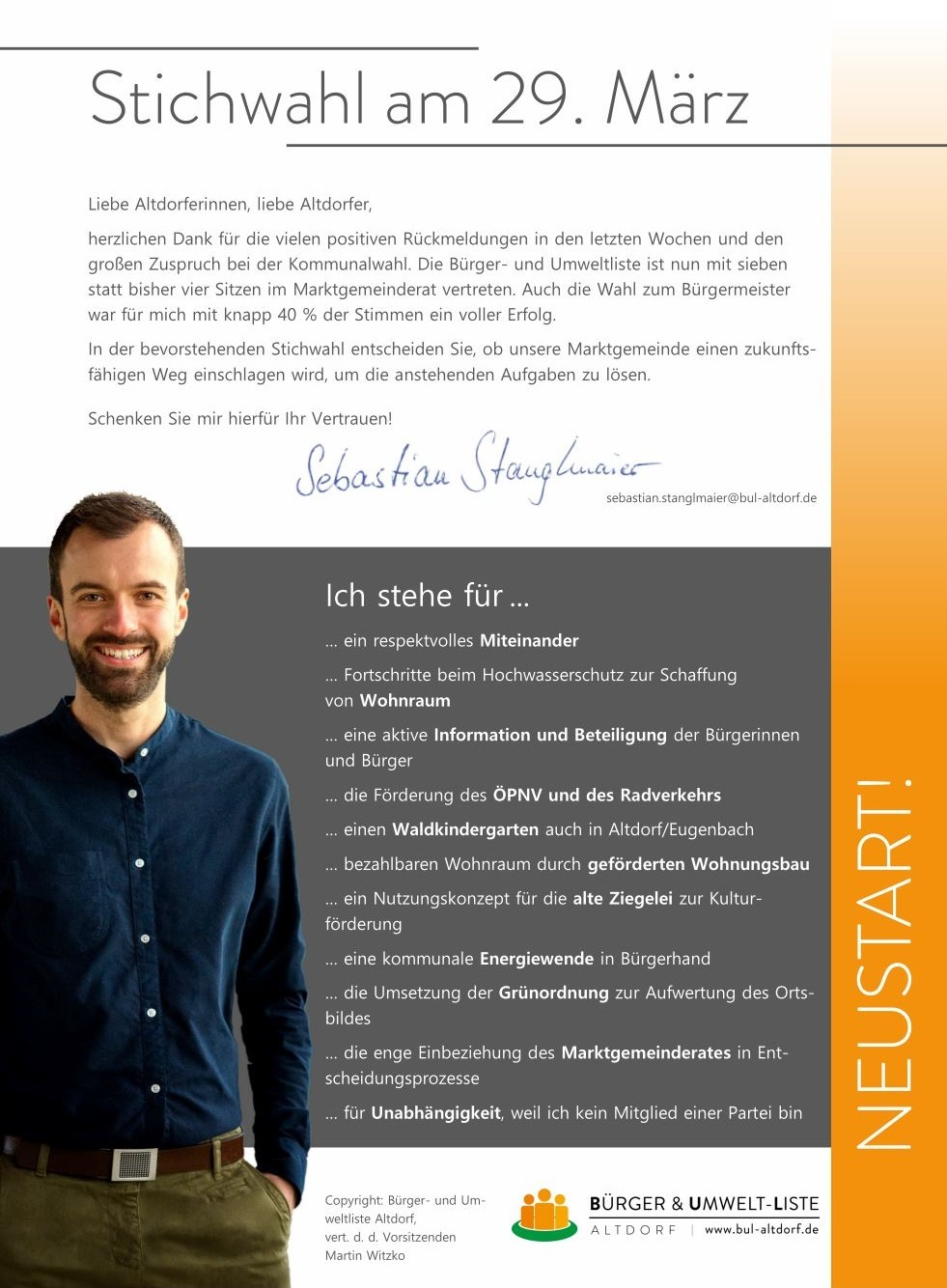 Flyer Stichwahl